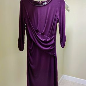 Eggplant Kut from the Kloth lined wrap dress